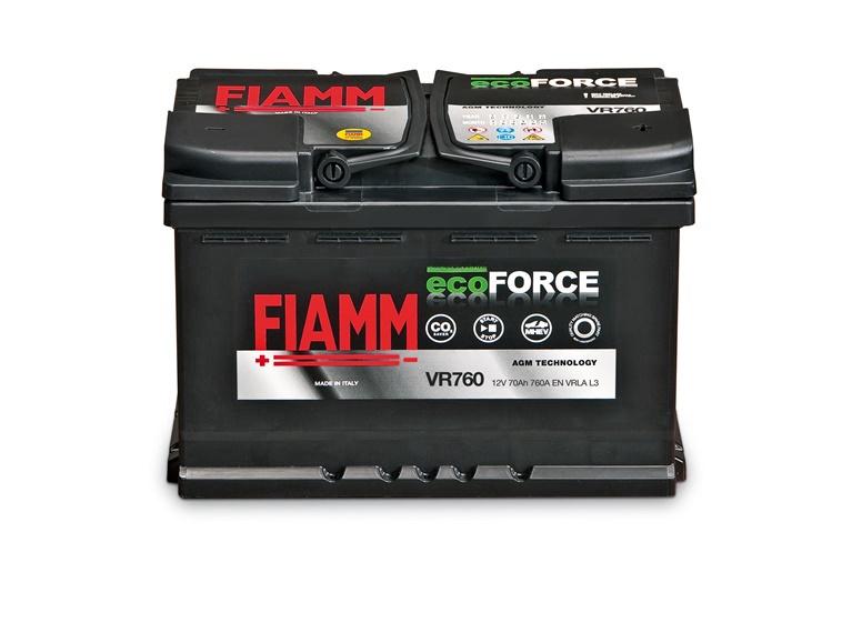 Autoaku Fiamm Ecoforce, 70 Ah, 760 A, 12 V