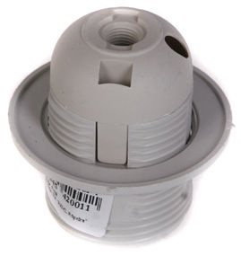 Reml Bulb Socket With A Ring 27-01 White