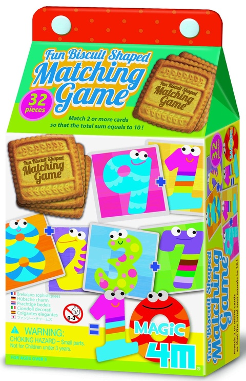 Lauamäng 4M Fun Biscuit Shaped Matching Game Magic 10 04645, EN