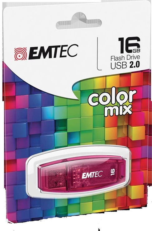 USB mälupulk Emtec C410 Color Mix, USB 2.0, 16 GB