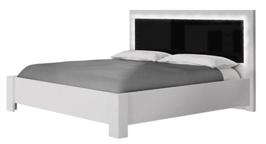 Voodi Idzczak Meble Roma White/Black, 160 x 200 cm