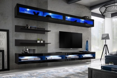 ASM Fly T2 Living Room Wall Unit Set Black