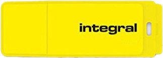 USB флеш-накопитель Integral Neon Yellow, USB 2.0, 8 GB