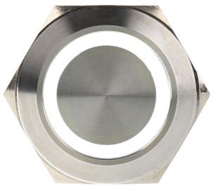 DimasTech Switch Push Button 25mm Silverline White