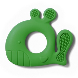 BabyOno Silicone Teether Whale Pablo Green