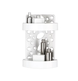 Saniplast Corner Shelf Groovy 225802 White