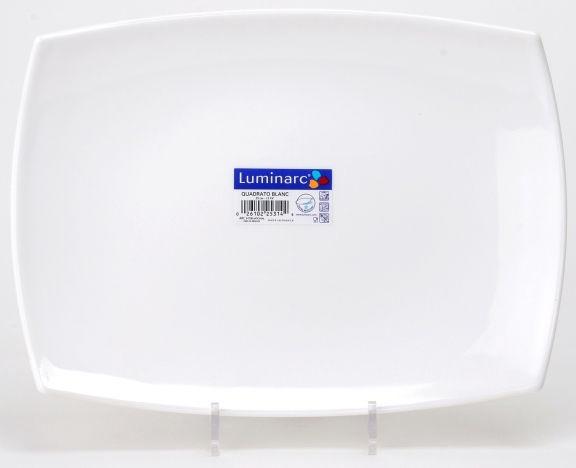 Luminarc Quadrato Rectangular Plate 35cm White