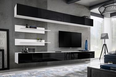 ASM Fly I Living Room Wall Unit Set Black/White