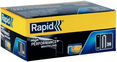 Rapid Cable 28/10mm White Staples 1000pcs