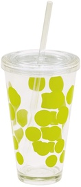 Zak!Designs Dot Dot Plastic Highball Glass Chiller 0989-5720 Kiwi Green