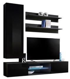 ASM Fly S1 Living Room Wall Unit Set Black