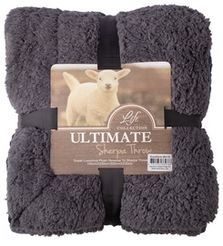 Home4you Ultimate XL Sherpa Throw Blanket 200x230cm Dark Gray