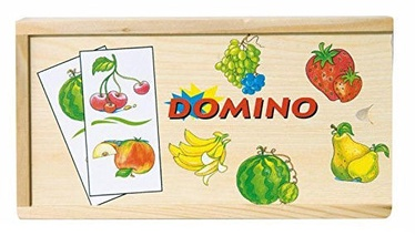 Lauamäng Woodyland Wooden Domino Fruits 28pcs