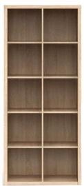 Black Red White Bookshelf Nepo REG/19/8 Sonoma Oak