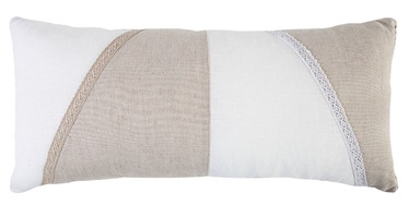 Home4you Linda Pillow 70x30cm White/Beige