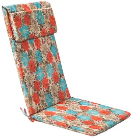 Home4you Chair Cover Simple 50x120x3cm Red/Blue Flowers