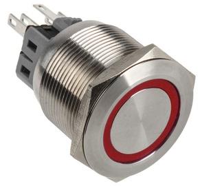 DimasTech Push Button 25mm Silverline Red