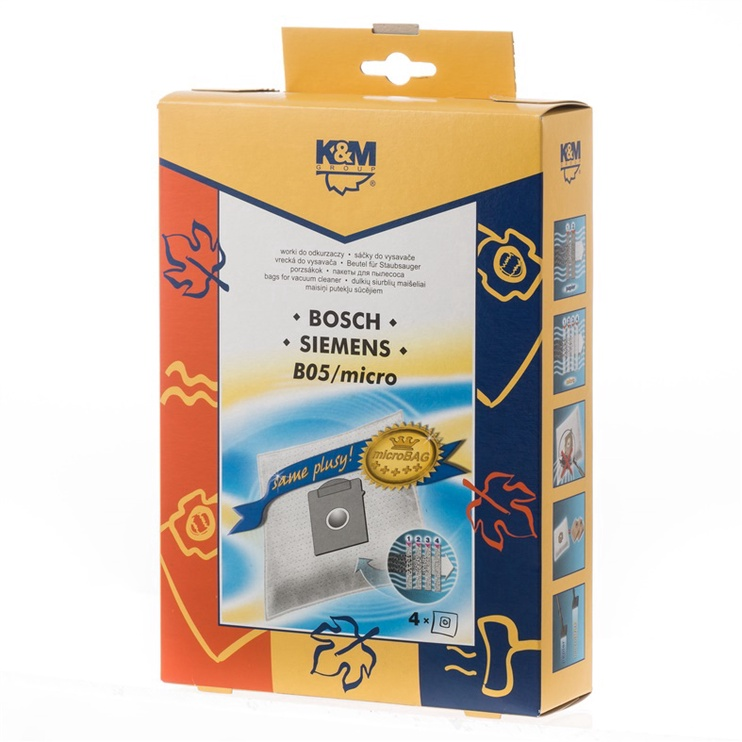 K&M Vacuum Cleaner Bags for Bosch 4pcs