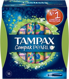 Tampax Pearl Compak Super Applicator Tampons 18pcs