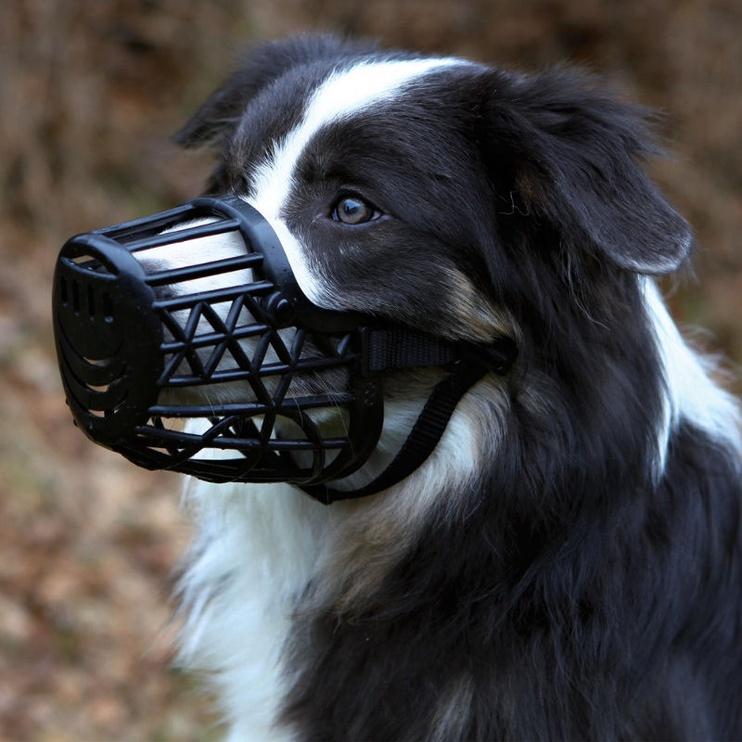 Trixie Plastic Muzzle L Black 26cm