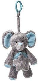 My Teddy Elephant Hanger With Music Blue