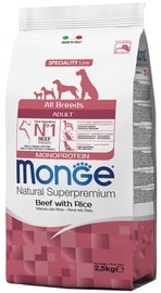 Monge All Breeds Adult Monoprotein Beef With Rice 2.5kg
