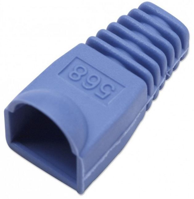 Intellinet Cable Boot For RJ45 Plugs Blue 10pcs