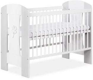 Детская кровать Klups Nati White/Gray, 125x66 см