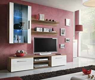 ASM Galino E Wall Unit Plum/White Gloss