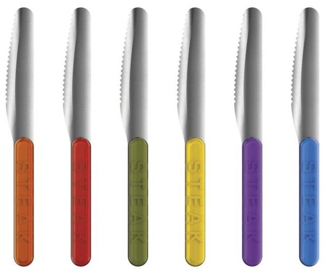 ViceVersa Pointles Set Of 6 Steak Knives