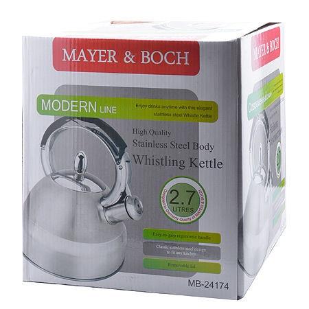 Mayer&Boch Whistling Kettle Silver/Black 2.7l