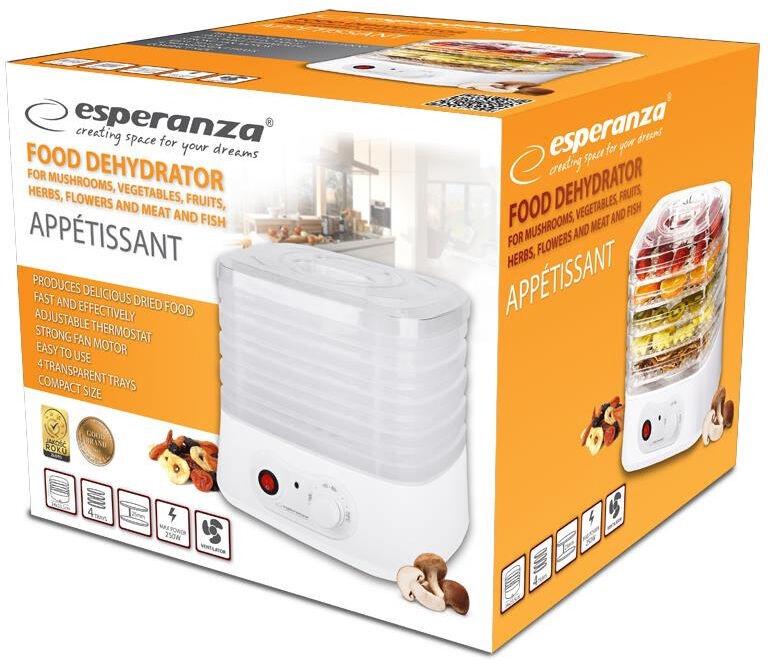Puuviljakuivati Esperanza EKD004, 250 W
