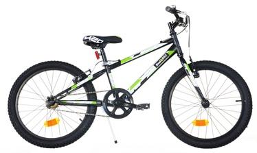 "Lastejalgratas Bimbo Bike 20"" Black White Green"