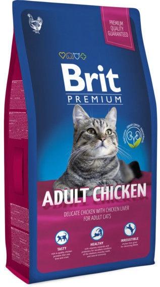 Brit Cat Food Adult Premium Chicken 1kg