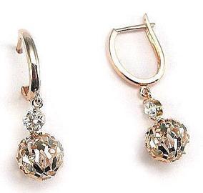 Diamond Sky 14K Red Gold Earrings Diamond Dust