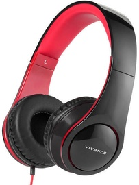 Vivanco Over-Ear Headphones Black/Red