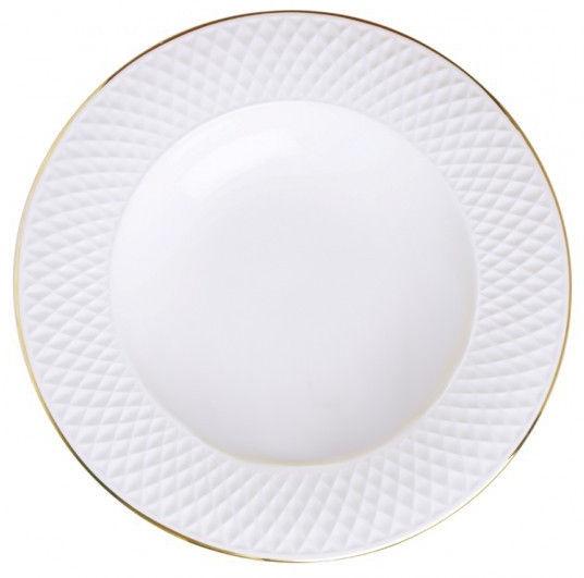 Quality Ceramic E Clat Soup Plate Gold 23cm