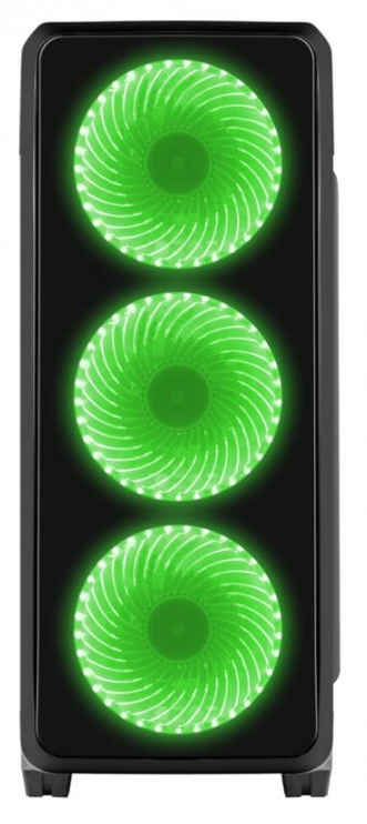 Natec Titan 750 Midi Tower Black/Green