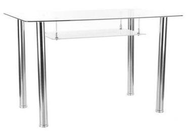 Обеденный стол Signal Meble Hektor Transparent, 1200x700x750 мм