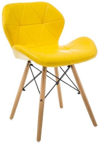 Söögitoa tool Signal Meble Matias Yellow, 1 tk