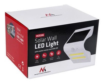 Maclean Wall Solar LED Lamp MCE206 White