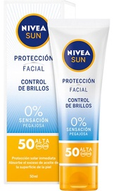 Крем для загара Nivea Sun Shine Control Facial Protection SPF50, 50 мл