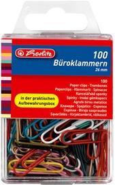 Herlitz Paper Clips 100pcs 26mm Coloured
