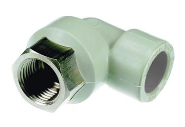 """Nurgaliitmik Sanitas PPR 25 mm, 1/2"""" sisekeere, 90°"""