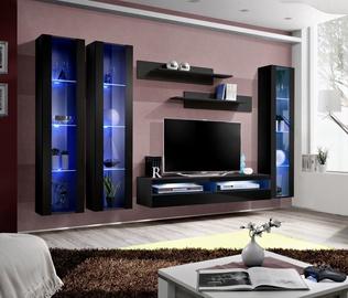 ASM Fly P12 Living Room Wall Unit Set Black