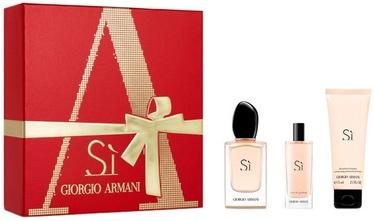 Женский парфюмерный набор Giorgio Armani Si 50 ml EDP + 75 ml Body Lotion + 15 ml EDP