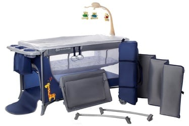 KinderKraft Joy Travel Cot With Accessories Navy