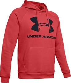 Under Armour Rival Fleece Logo Hoodie 1345628-646 Red XL