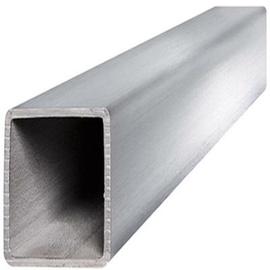 Aluminium Rectangular Pipe 25x15mm 1m