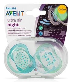 Philips Avent Ultra Air Night Blue 0-6 2pcs SCF376/11